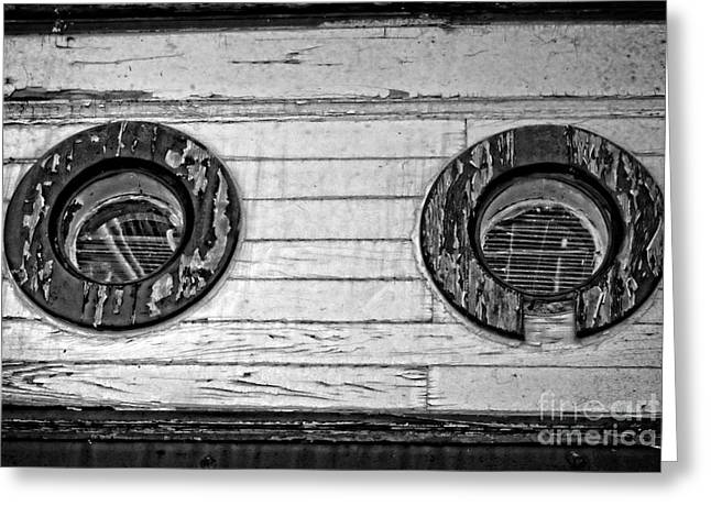 Wooden Ship Greeting Cards - The Same Outlook Greeting Card by Dorothy Pinder