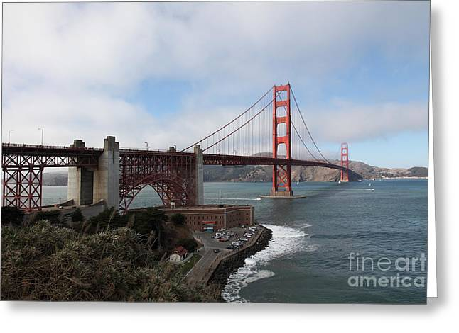 Frisco Pier Greeting Cards - The San Francisco Golden Gate Bridge - 5D18909 Greeting Card by Wingsdomain Art and Photography