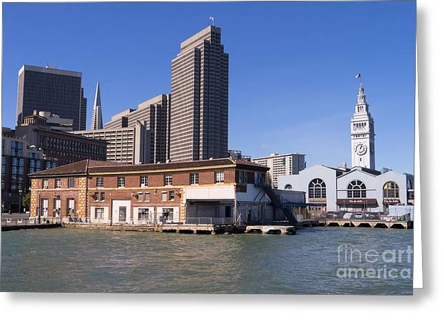 Port Of San Francisco Greeting Cards - The San Francisco Skyline and Ferry Building DSC1784 Greeting Card by Wingsdomain Art and Photography
