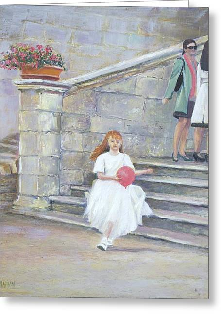 Gossiping Greeting Cards - The San Gimignano Wedding Party Greeting Card by Jan Matson