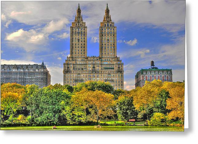 San Remo Greeting Cards - The San Remo Building in Upper West Side Manhattan Greeting Card by Randy Aveille