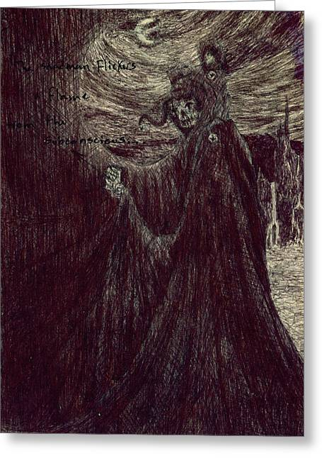 Guardian Angel Drawings Greeting Cards - The Sandman Greeting Card by Kd Neeley