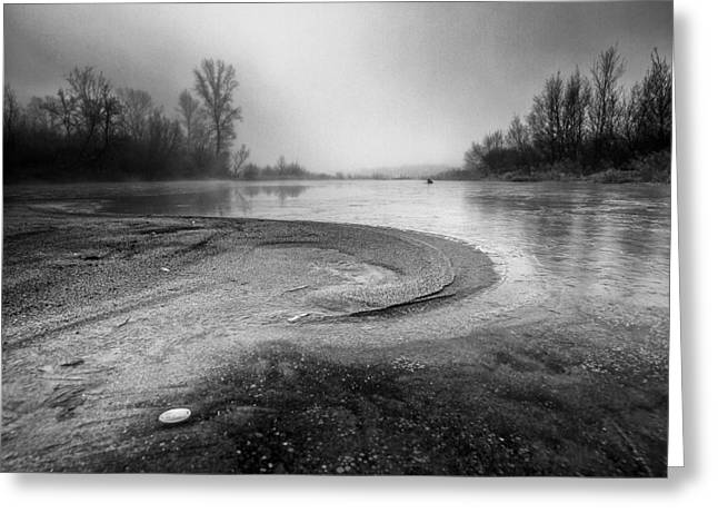 Black And White Landscape Greeting Cards - The sands of time Greeting Card by Davorin Mance