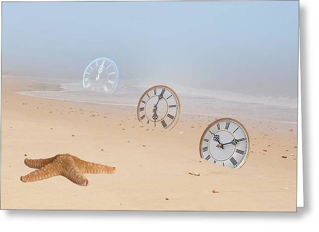The Sands Of Time Greeting Card by Gill Billington