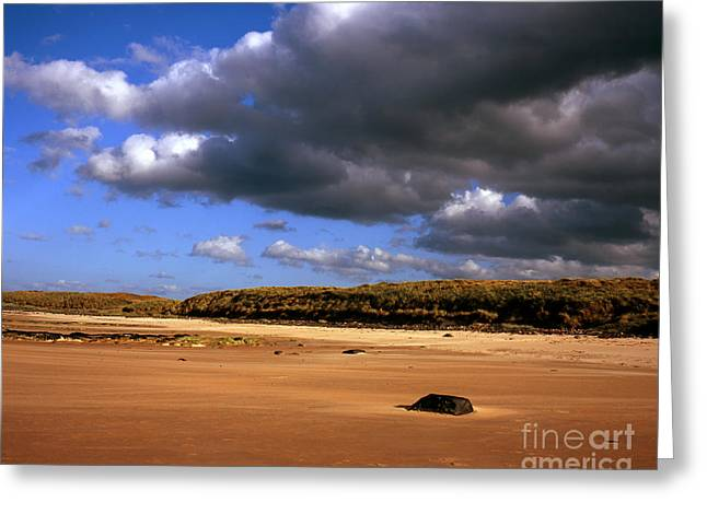 Embleton Greeting Cards - The sandy  beach at Embleton Bay   Embleton Northumberland England Greeting Card by Michael Walters