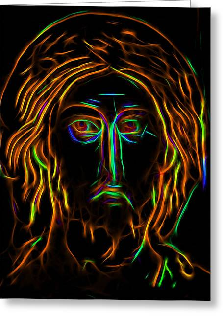 Jesus Christ Icon Digital Greeting Cards - The Savior 1 Greeting Card by Yury Malkov