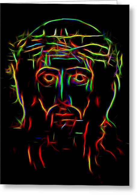 Jesus Christ Icon Digital Greeting Cards - The Saviour Greeting Card by Yury Malkov