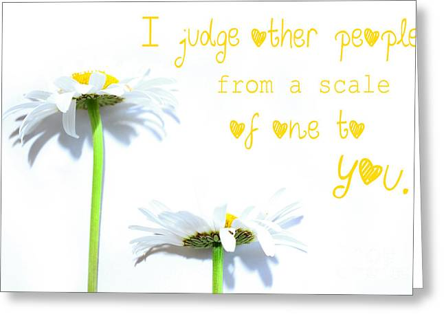 Mothers Day Greeting Cards - The scale from one to mother Greeting Card by Sabine Jacobs