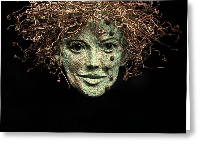 Face Reliefs Greeting Cards - The Scales Have Fallen From My Eyes Original relief wall hanging sculpture Greeting Card by Adam Long