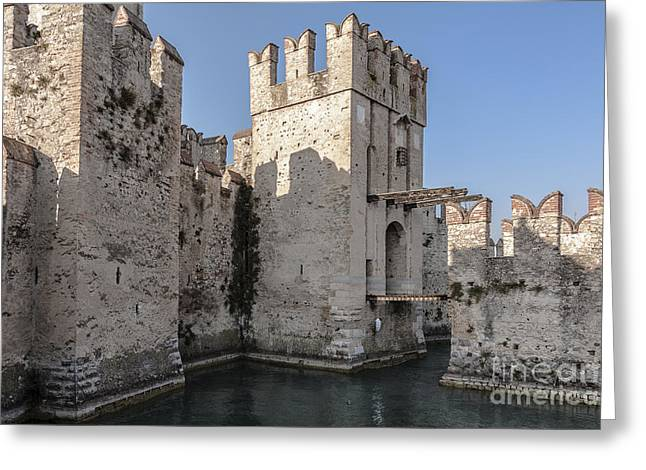 Historic Architecture Greeting Cards - The Scaliger Castle Greeting Card by Rostislav Bychkov