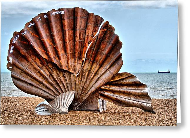 Aldeburgh Greeting Cards - The Scallop 2 Greeting Card by Chris Thaxter