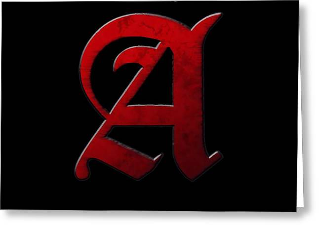 The Scarlet Letter Greeting Card by Dan Sproul