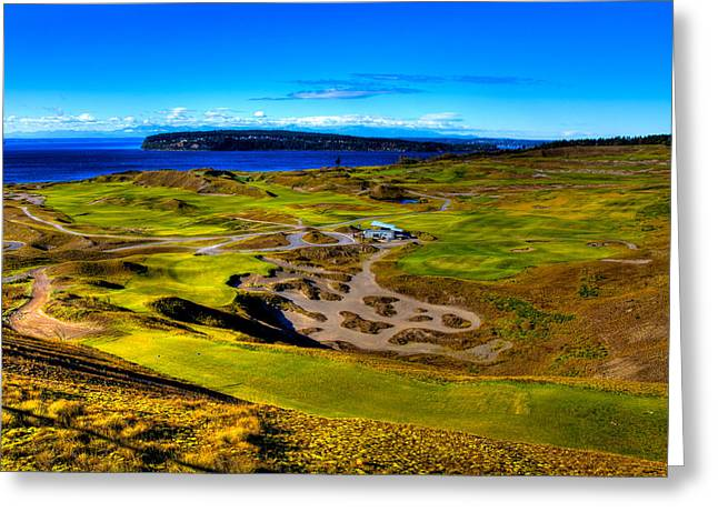 Us Open Golf Greeting Cards - The Scenic Chambers Bay Golf Course III - Location Of The 2015 U.s. Open Tournament Greeting Card by David Patterson