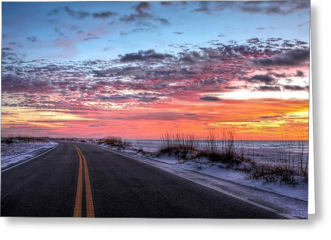 The Scenic Route Greeting Card by JC Findley