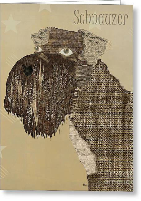Spaniel Digital Art Greeting Cards - The Schnauzer Dog  Greeting Card by Bri Buckley