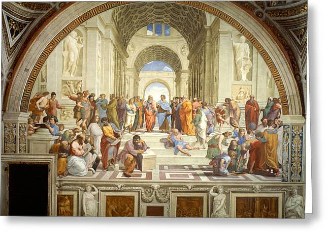 The School Of Athens Greeting Card by Raphael