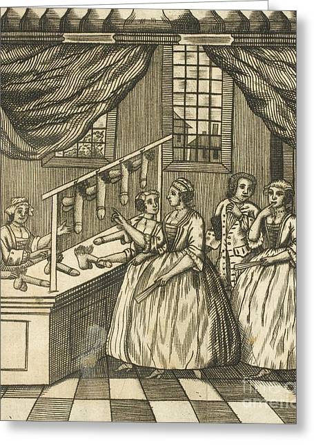 Toy Shop Greeting Cards - The School Of Women, 17th Century Greeting Card by British Library