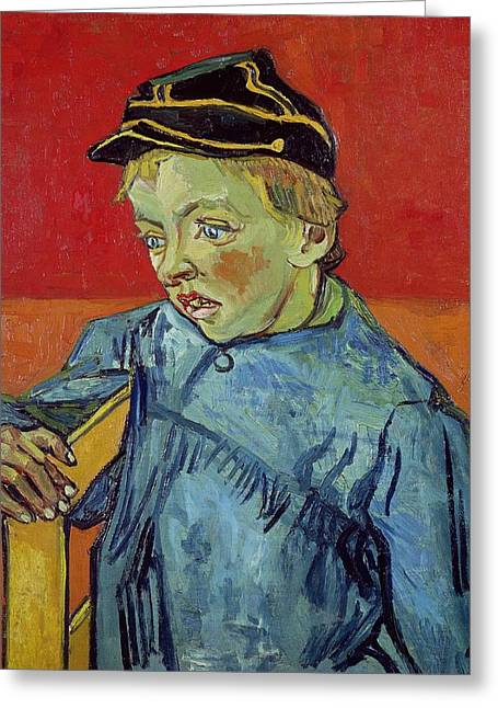 Van Gogh Reproductions Greeting Cards - The Schoolboy Greeting Card by Vincent Van Gogh