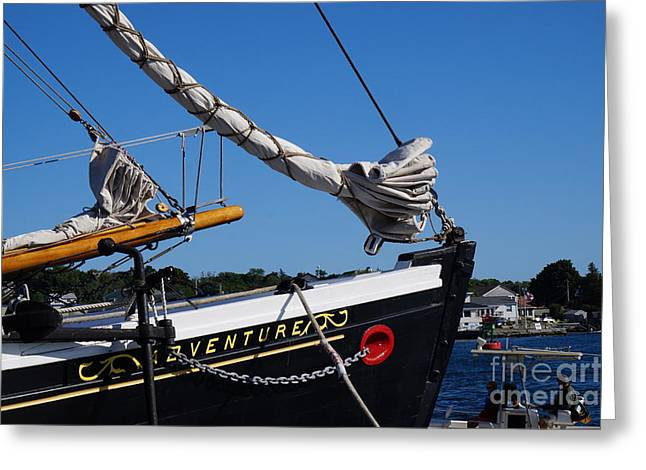 Faa Featured Greeting Cards - The Schooner Adventure Greeting Card by Zori Minkova
