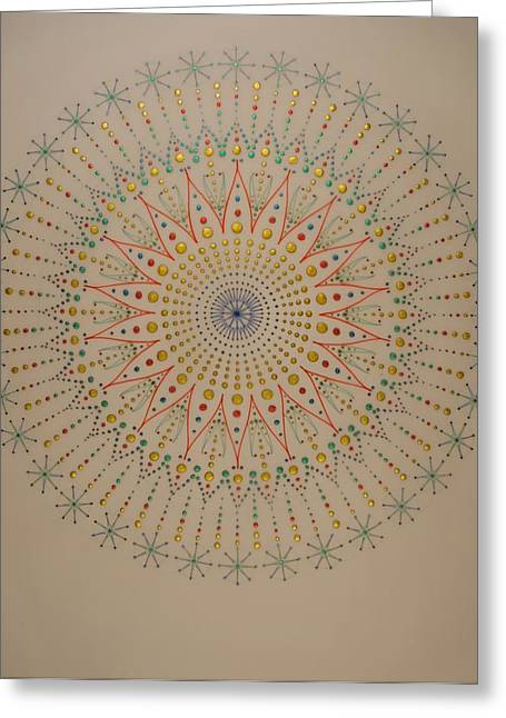 Portal Drawings Greeting Cards - The Scintillation of Sound Healing Greeting Card by Mark Golding