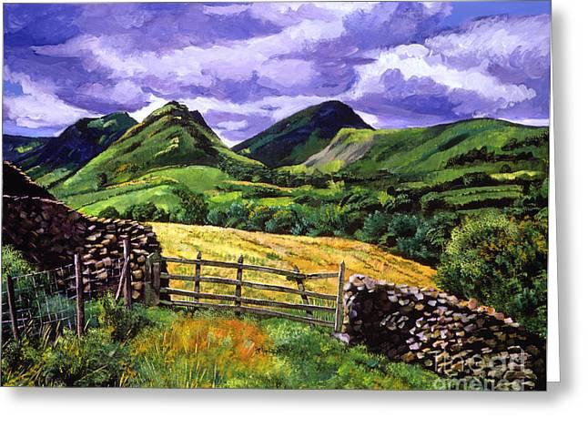 Heaths Greeting Cards - The Scottish Highlands Greeting Card by David Lloyd Glover