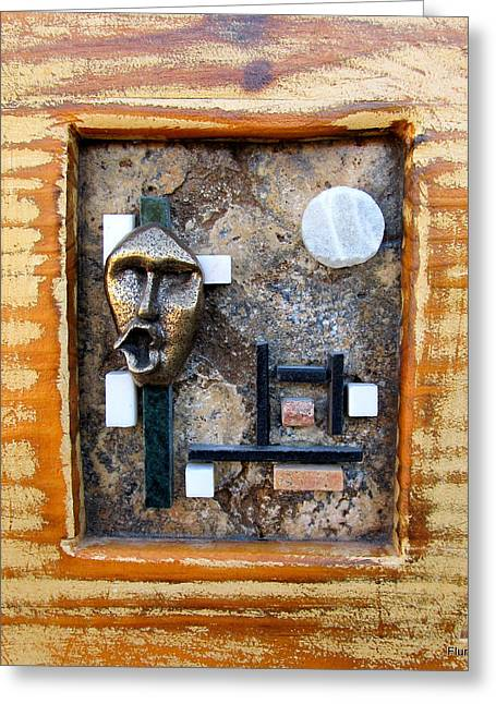 Framed Reliefs Greeting Cards - The scream Greeting Card by Francis Flury