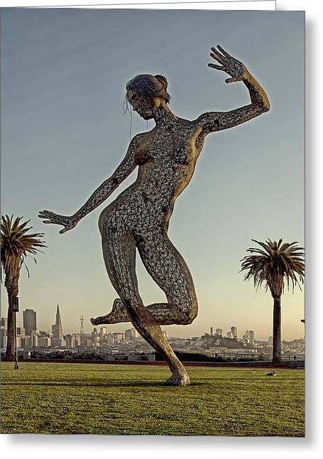 Dance Sculpture Greeting Cards - The Sculpture Bliss Dance in San Francisco Greeting Card by Mountain Dreams