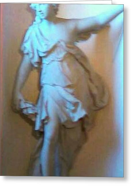 Greek Sculpture Greeting Cards - The Sculpture Greeting Card by Carol Bono