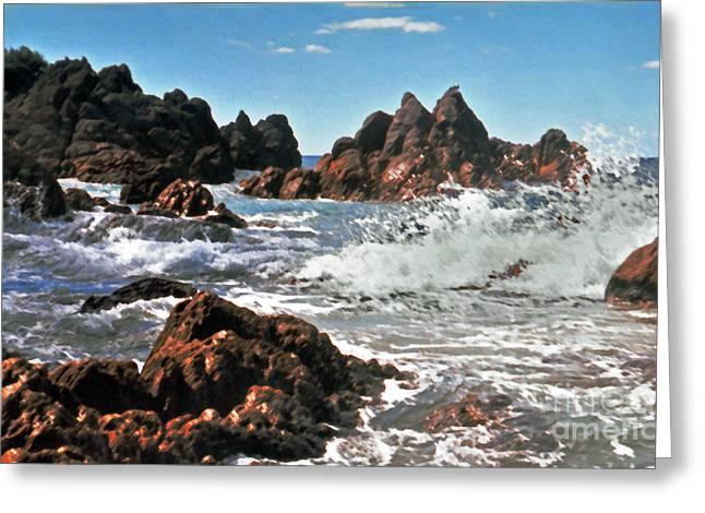 Mount Maunganui Greeting Cards - The Sea Abounds Greeting Card by Lydia Holly