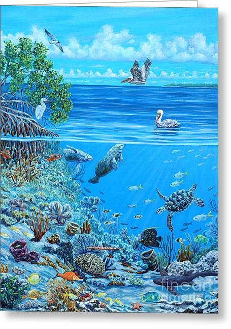 Hog Fan Greeting Cards - The Sea is Calling Greeting Card by Danielle  Perry