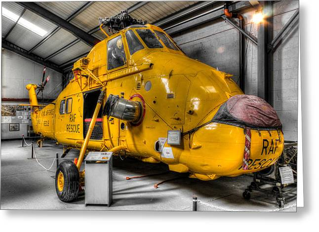 Helicopter Greeting Cards - The Sea King Greeting Card by Ian Hufton