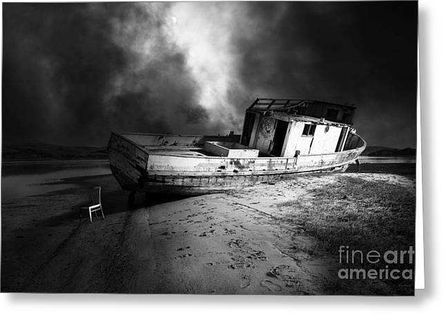 Francis B Greeting Cards - The Sea Never Gives Up Her Dead DSC2099 BW Greeting Card by Wingsdomain Art and Photography