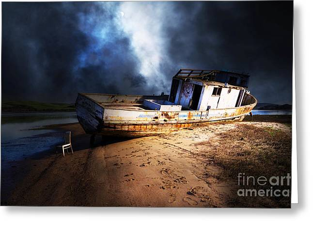 Pt Reyes Greeting Cards - The Sea Never Gives Up Her Dead DSC2099 Greeting Card by Wingsdomain Art and Photography