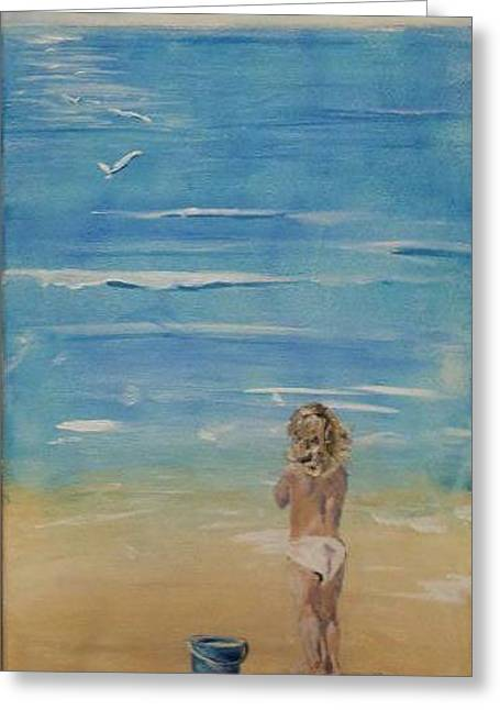 The Seagulls Greeting Card by Almeta LENNON