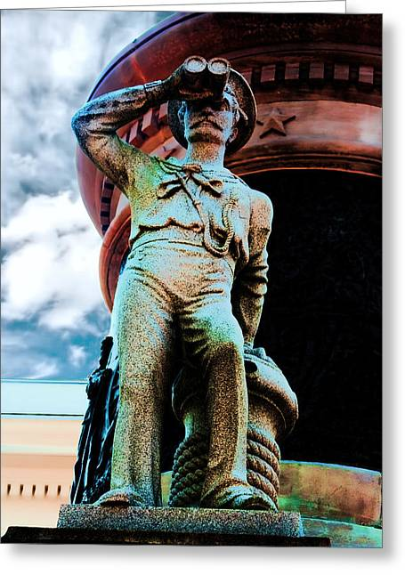 Confederate Monument Greeting Cards - The Seaman III Greeting Card by Lesa Fine