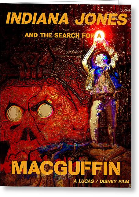 Indiana Art Digital Art Greeting Cards - The search for a Macguffin Greeting Card by David Lee Thompson