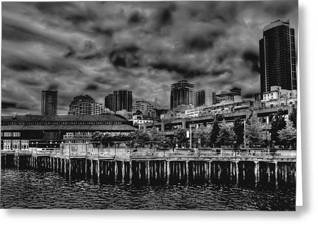 Seattle Waterfront Greeting Cards - The Seattle Waterfront Greeting Card by David Patterson