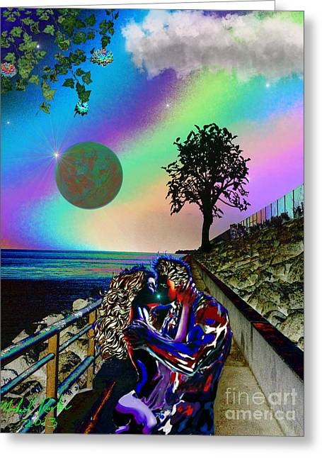 Rucker Greeting Cards - The Seawall Greeting Card by Michael Rucker
