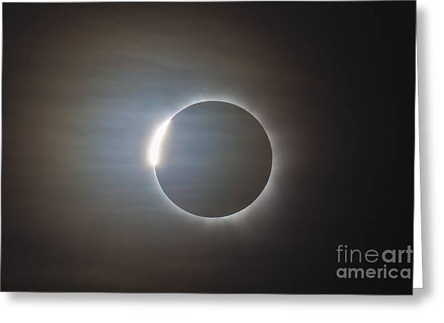 Solar Eclipse Greeting Cards - The Second Diamond Ring Greeting Card by Alan Dyer