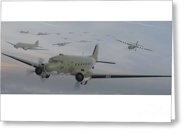 Dc-3 Greeting Cards - The Second Lift Greeting Card by Hangar B Productions