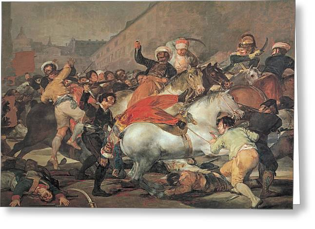 The Second Of May, 1808  The Riot Against The Mameluke Mercenaries Greeting Card by Francisco Jose de Goya y Lucientes