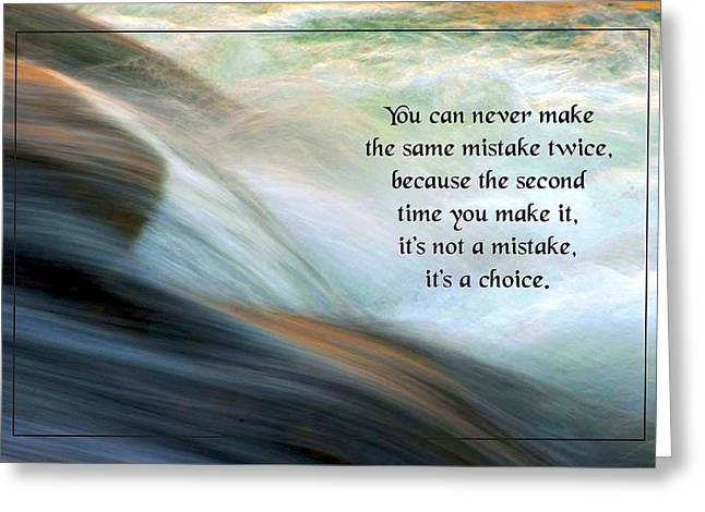 Conscious Decision Greeting Cards - The Second Time Greeting Card by Mike Flynn