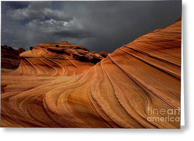 Greeting Cards - The Second Wave Arizona Greeting Card by Bob Christopher