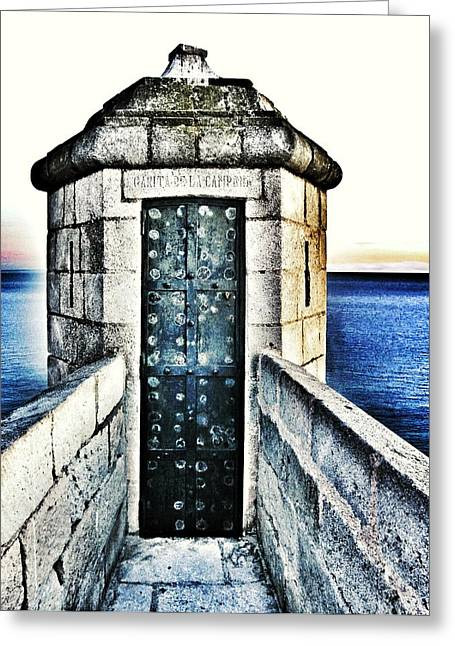Sea View Greeting Cards - The Secret Door Greeting Card by Marianna Mills