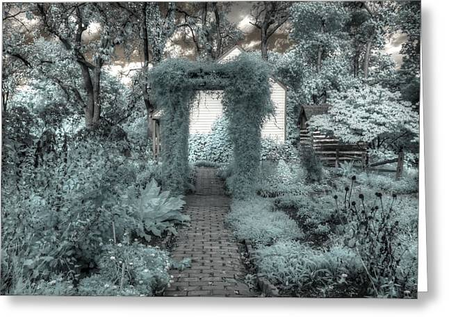 Secret Gardens Greeting Cards - The Secret Garden Greeting Card by Jane Linders