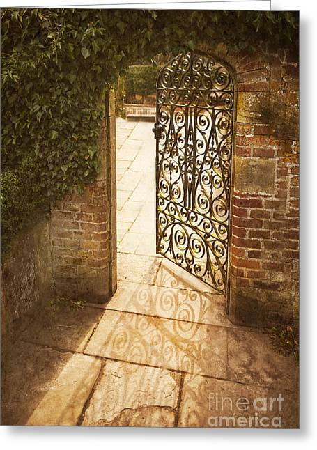 Iron Greeting Cards - The secret garden Greeting Card by Lee Avison