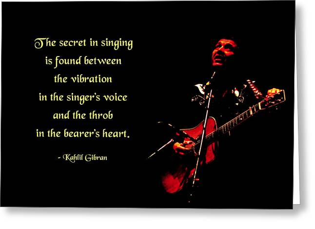 Croon Greeting Cards - The Secret of Song Greeting Card by Mike Flynn