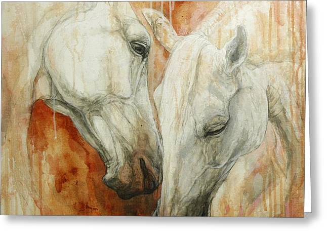 Horse Artist Greeting Cards - The Secret Greeting Card by Silvana Gabudean