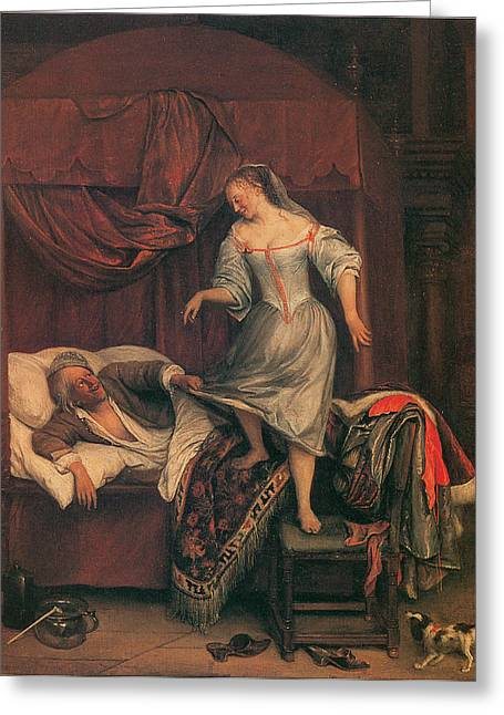The Seduction Greeting Card by Jan Steen
