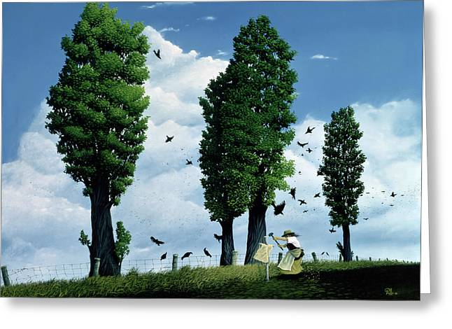 The Seeds Greeting Card by Stephane Poulin